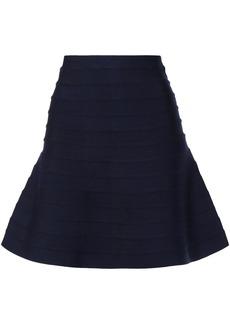 Herve Leger Hervé Léger Woman Cecilia Flared Bandage Mini Skirt Midnight Blue