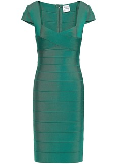 Herve Leger Hervé Léger Woman Crisscross Bandage Dress Emerald