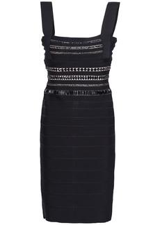 Herve Leger Hervé Léger Woman Crystal-embellished Bandage Mini Dress Black
