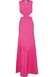 Herve Leger Hervé Léger Woman Cutout Bandage Gown Bright Pink