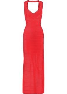 Herve Leger Hervé Léger Woman Estrella Cutout Bandage Gown Tomato Red