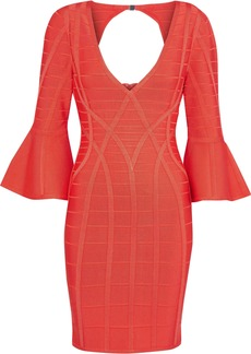 Herve Leger Hervé Léger Woman Cutout Bandage Mini Dress Coral