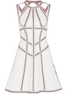 Herve Leger Hervé Léger Woman Cutout Bandage Mini Dress White