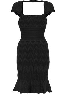 Herve Leger Hervé Léger Woman Cutout Metallic Bandage Mini Dress Black