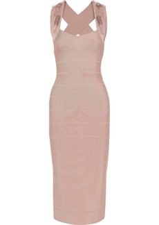 Herve Leger Hervé Léger Woman Embellished Bandage Dress Blush