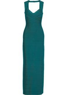 Herve Leger Hervé Léger Woman Estrella Cutout Bandage Gown Teal