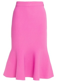 Herve Leger Hervé Léger Woman Fluted Ponte Skirt Pink