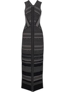 Herve Leger Hervé Léger Woman Jacquard-knit Gown Black