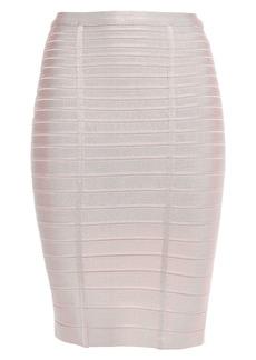 Herve Leger Hervé Léger Woman Alabaster Bandage Pencil Skirt Pastel Pink