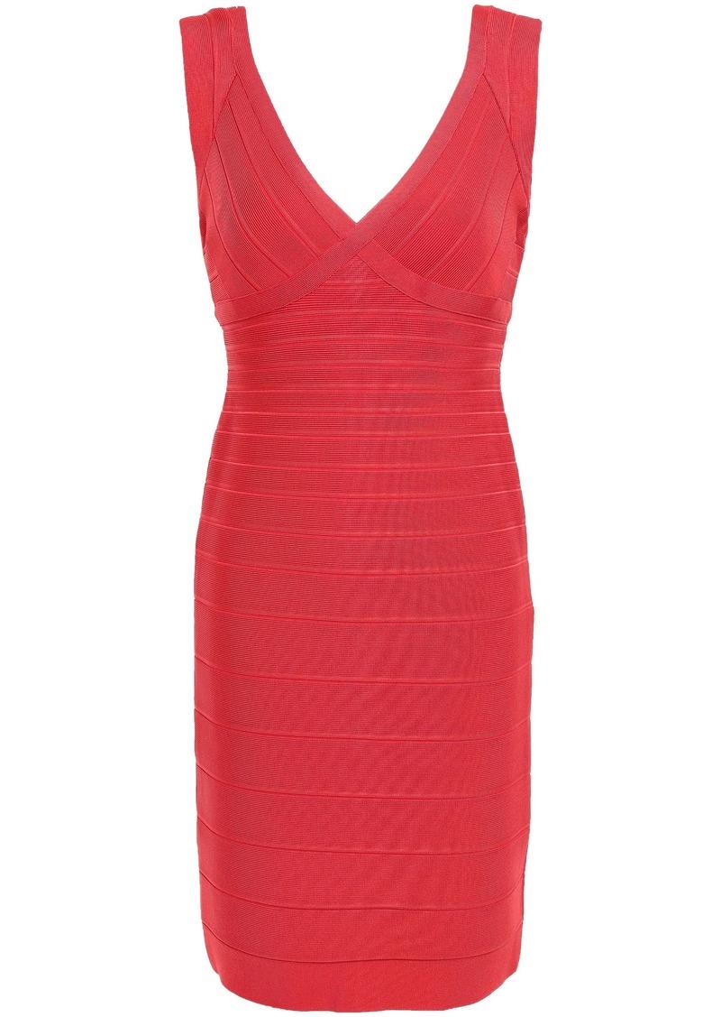 Herve Leger Hervé Léger Woman Karima Open-back Bandage Mini Dress Tomato Red