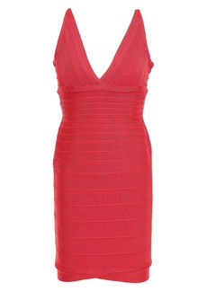 Herve Leger Hervé Léger Woman Lauren Bandage Mini Dress Papaya