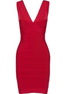 Herve Leger Hervé Léger Woman Lauren Bandage Mini Dress Tomato Red