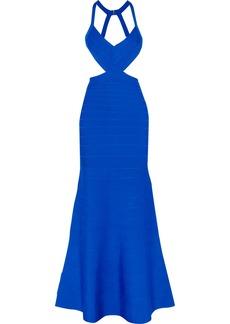Herve Leger Hervé Léger Woman Marcella Cutout Bandage Gown Blue