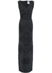 Herve Leger Hervé Léger Woman Metallic Bandage Gown Midnight Blue