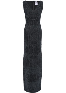 Herve Leger Hervé Léger Woman Metallic Bandage Gown Midnight Blue