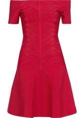 Herve Leger Hervé Léger Woman Off-the-shoulder Bandage Dress Red