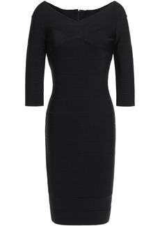 Herve Leger Hervé Léger Woman Off-the-shoulder Bandage Mini Dress Black