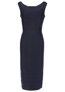 Herve Leger Hervé Léger Woman Ardell Open-back Bandage Dress Midnight Blue
