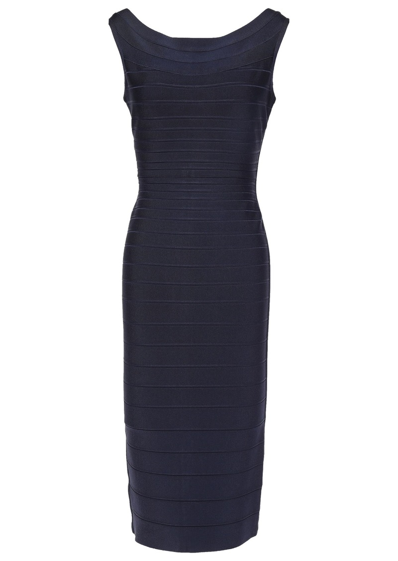 Herve Leger Hervé Léger Woman Ardell Open-back Bandage Dress Midnight Blue