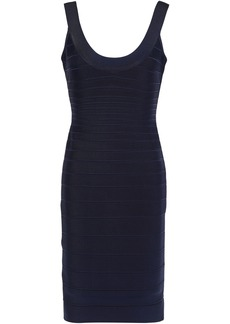 Herve Leger Hervé Léger Woman Sydney Open-back Bandage Mini Dress Midnight Blue