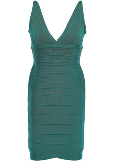 Herve Leger Hervé Léger Woman Open-back Bandage Dress Jade