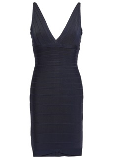 Herve Leger Hervé Léger Woman Open-back Bandage Dress Navy