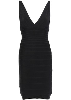 Herve Leger Hervé Léger Woman Open-back Bandage Dress Black