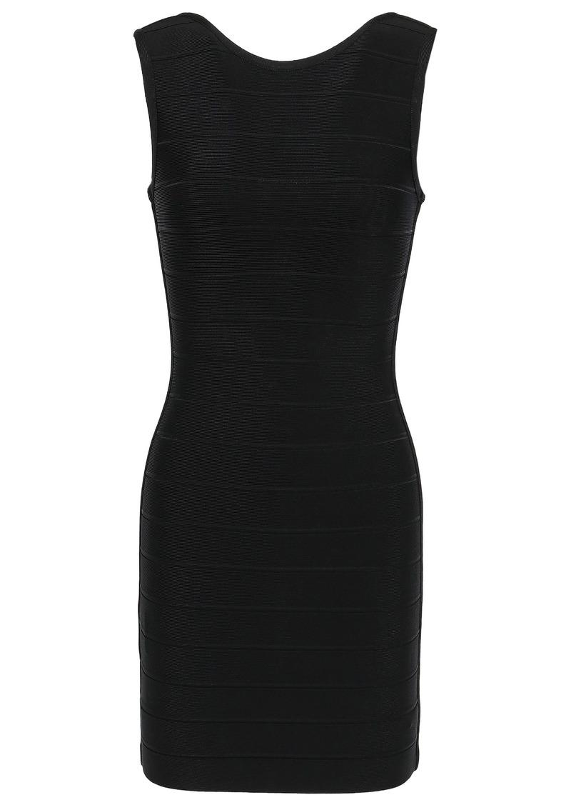Herve Leger Hervé Léger Woman Open-back Bandage Mini Dress Black