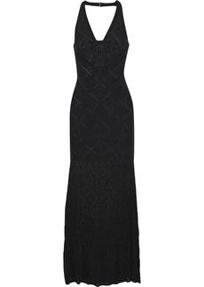 Herve Leger Hervé Léger Woman Priscilla Crochet-paneled Bandage Gown Black