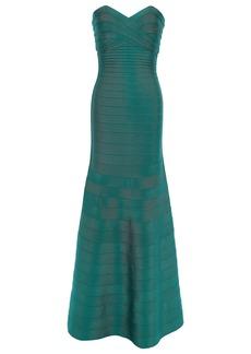 Herve Leger Hervé Léger Woman Sara Strapless Bandage Gown Jade