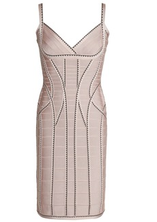 Herve Leger Hervé Léger Woman Zehra Jacquard-trimmed Bandage Mini Dress Blush