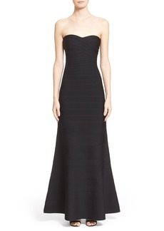 Herve Leger Bandage Mermaid Gown