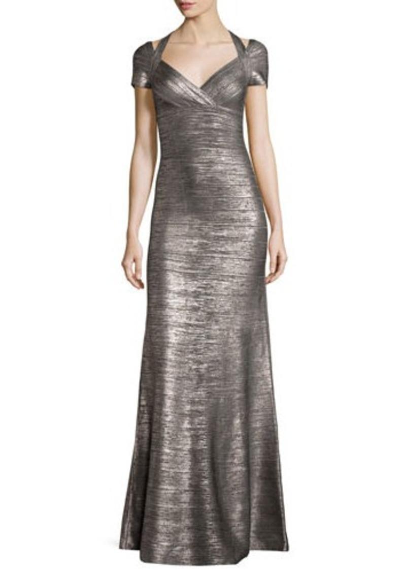 Herve Leger Herve Leger Colette Woodgrain Foil Bandage Gown | Dresses