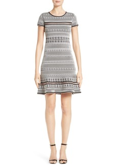 Herve Leger Jacquard Knit Dress