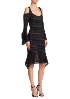Herve Leger Kamryn Cold-Shoulder Dress