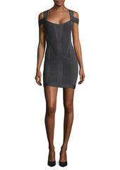 Herve Leger Knit Cold Shoulder Dress