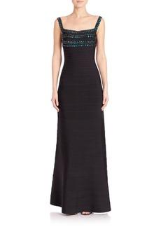 Herve Leger Knit Evening Dress