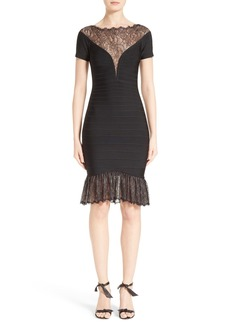 Herve Leger Lace Inset Bandage Dress