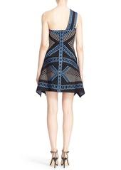 Herve Leger 'Margeaux' One-Shoulder Jacquard Dress