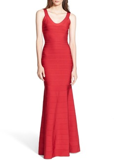 Herve Leger Mermaid Bandage Gown