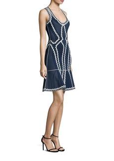 Herve Leger Patterned Cocktail Dress