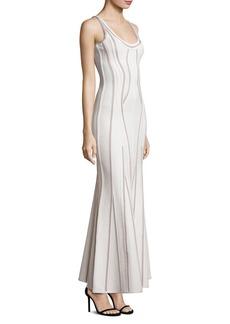 Herve Leger Sleeveless Evening Gown