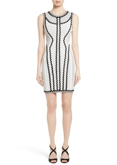 Herve Leger Zigzag Bandage Dress