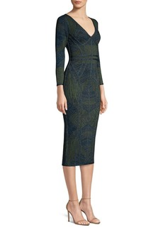 Herve Leger Jacquard Column Bandage Dress