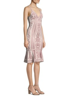 Herve Leger Jacquard Flutter Dress