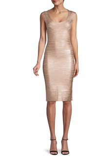 Herve Leger Knit Bandage Bodycon Dress