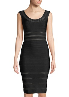 Herve Leger Mesh Bandage Body-Con Dress