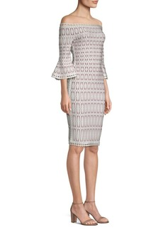 Herve Leger Off-Shoulder Bodycon Dress