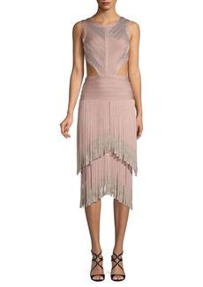 Herve Leger Open-Back Sleeveless Dress