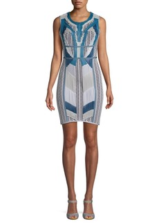 Herve Leger Pleated Cocktail Dress